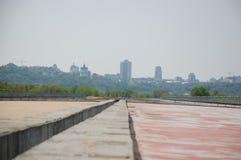 Puente inacabado de Podolsky imagenes de archivo