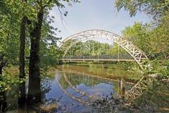 Puente Indiana de Dunns Foto de archivo