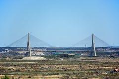 Puente internacional de Guadiana, Castro Marim imágenes de archivo libres de regalías