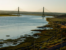 Puente Internacional del Guadiana, Bridge over the Guadiana River in Ayamonte, Huelva. Spain Stock Images