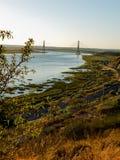 Puente Internacional del Guadiana, Bridge over the Guadiana River in Ayamonte, Huelva. Spain Stock Photo