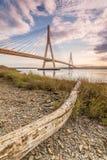 Puente internacional sobre el río Guadiana, Ayamonte, España Foto de archivo libre de regalías
