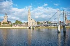 Puente Inverness de la calle de Greig Fotos de archivo