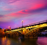 Puente Isabel II bridge Triana Seville Spain Royalty Free Stock Photography