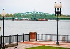 Puente a la isla de Michigan Fotografía de archivo