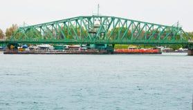 Puente a la isla de Michigan Imagen de archivo