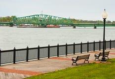Puente a la isla de Michigan Imagenes de archivo