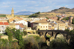 Puente la reina. The old town of puente la reina in spain stock photo