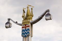 Puente Lampost de Chelsea Imágenes de archivo libres de regalías