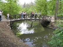 Puente largo fotografía de archivo