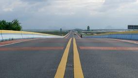 Puente largo en el phatthalung Imagen de archivo libre de regalías