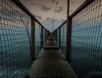 Puente largo estupendo en Rímini Fotos de archivo libres de regalías