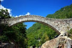 Puente Lavertezzo Fotografía de archivo libre de regalías