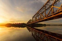 Puente levadizo en el Oder, Polonia Fotos de archivo libres de regalías