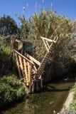 Puente levadizo en el Rec Comtal Fotografía de archivo