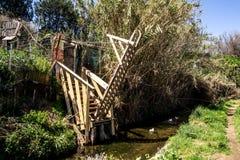 Puente levadizo en el Rec Comtal Fotografía de archivo libre de regalías