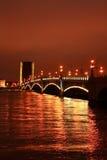 Puente levadizo en St Petersburg Foto de archivo libre de regalías
