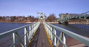 Puente levadizo, Letonia Fotografía de archivo