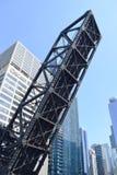 Puente levadizo a lo largo del río Chicago Foto de archivo