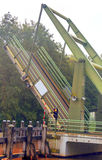 Puente levadizo situado en Holanda Fotografía de archivo