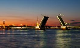 Puente levantado Imagen de archivo libre de regalías