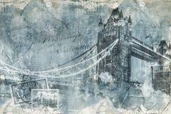 Puente Londres, arte digital de la torre Foto de archivo