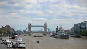 Puente Londres de la torre almacen de video