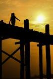 Puente Mandalay Fotografía de archivo libre de regalías
