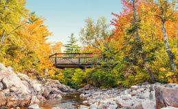Puente a Mary Ann Falls en la caída foto de archivo