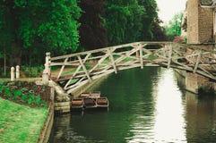Puente matemático, Cambridge, Reino Unido foto de archivo