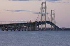 Puente Michigan de la ciudad de Mackinaw Fotos de archivo