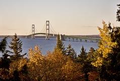 Puente Michigan de la ciudad de Mackinaw Imagen de archivo