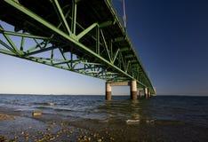 Puente Michigan de la ciudad de Mackinaw Fotos de archivo libres de regalías