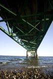 Puente Michigan de la ciudad de Mackinaw Foto de archivo