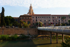 Puente Miguel Caballero  with Cathedral in Murcia Stock Photo