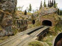 Puente modelo del ferrocarril Imagen de archivo libre de regalías