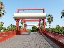 Puente moderno Barcelona España Foto de archivo libre de regalías