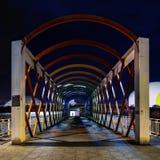 Puente moderno de San Sebastian en Avilés fotografía de archivo