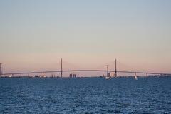 Puente muy largo foto de archivo