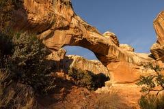 Puente natural de Hickman en parque nacional del filón del capitolio Foto de archivo