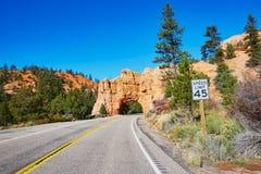 Puente natural de la piedra arenisca roja en Bryce Canyon National Park en Utah, los E.E.U.U. Foto de archivo libre de regalías