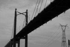 Puente negro. Puente en blanco y negro royalty free stock photography