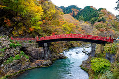 Puente Nikko de Shinkyo Imagenes de archivo
