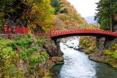 Puente Nikko de Shinkyo Imagen de archivo libre de regalías