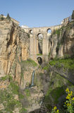 Puente Nueve in Ronda in Southern Spain. Puente Nuevo bridge across the El Tajo gorge in Ronda, Spain Stock Photo