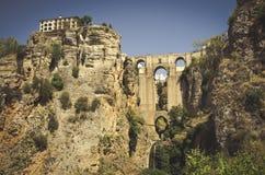 Puente Nuevo в городе Ronda стоковое фото rf