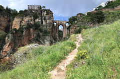 Puente Nuevo в Ronda, Испании Стоковая Фотография