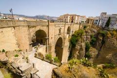 Puente Nuevo (新的桥梁)在朗达,西班牙 免版税库存照片