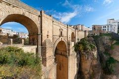 Puente Nuevo Bridge i Ronda Spain Arkivfoton