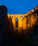Puente Nuevo bridge in night.  Ronda Royalty Free Stock Photos